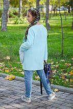 """Детское кашемировое пальто для девочки """"Ласка"""" с мехом на карманах (4 цвета), фото 2"""