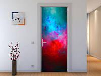 Наклейка на дверь Космос