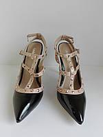 Женские классические туфли на высоком каблуке и отсрым носком  RainbowCat 38 размера