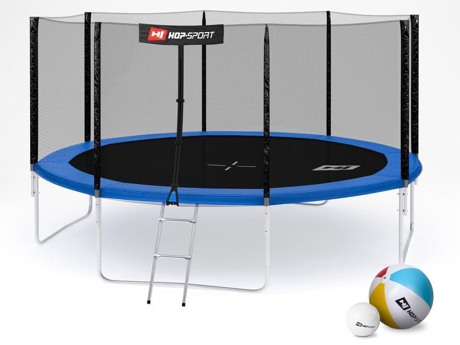 Батут Hop-Sport Hop-Sport 14ft (427cm) blue с внешней сеткой для дома и спортзала, Львов