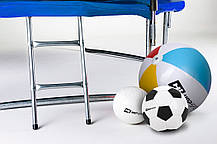 Батут Hop-Sport Hop-Sport 14ft (427cm) blue с внешней сеткой для дома и спортзала, Львов, фото 3