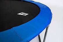 Батут Hop-Sport Hop-Sport 14ft (427cm) blue с внешней сеткой для дома и спортзала, Львов, фото 2