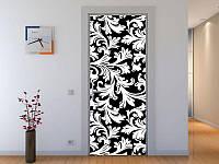 Наклейка на дверь 3-д узор