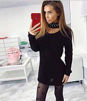 Платье вязаное Чокер