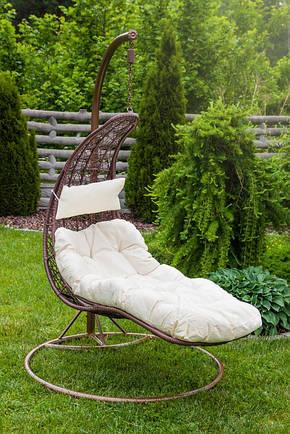 Садовое плетенное кокон кресло из ротанга Capacio brown, Львов, фото 2