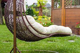 Садовое плетенное кокон кресло из ротанга Capacio brown, Львов, фото 3