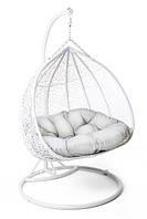 Садовое плетенное кокон кресло из ротанга Foggio white, Львов