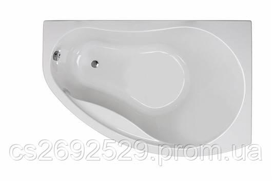 PROMISE ванна асимметричная 150*100 см, правая, белая, с ножками SN7, фото 2