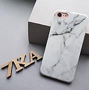Мармуровий чохол для Iphone 6 / 6s White