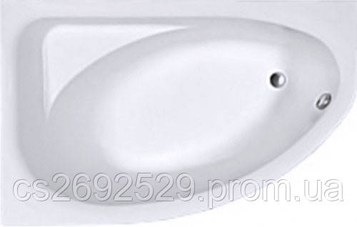 SPRING ванна асимметричная 160*100 см, левая, белая, с ножками SN7, фото 2