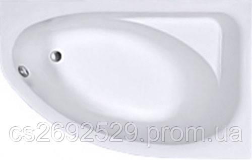 SPRING ванна асимметричная 160*100 см, правая, белая, с ножками SN7, фото 2