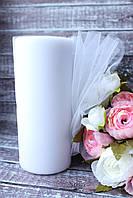 Фатин (вуаль) мягкий 15 см, 25 ярд/рулон, белого цвета, фото 1