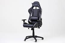 Офисный стул-кресло на колесиках черного цвета Formula white/black, Львов, фото 3