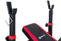 Силовой набор для жима скамья со штангой 85 кг и гантелями Strong для дома и спортзала, Львов, фото 3