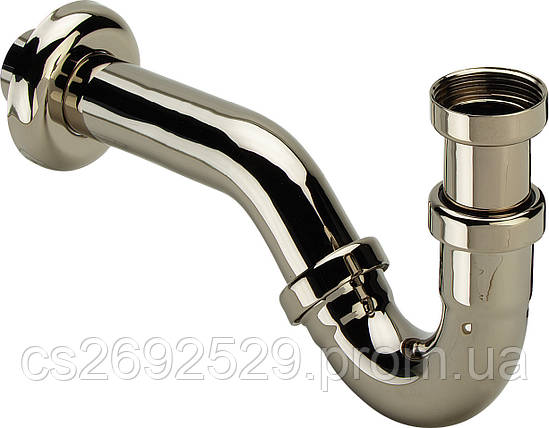 Полусифон трубный для биде, хром (103781), фото 2