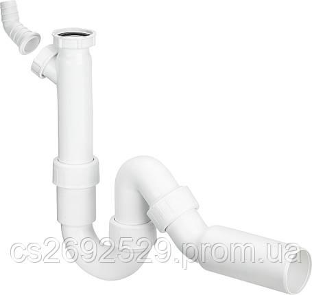 Полусифон трубный для моек с отводным коленом (101800), фото 2