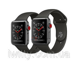 Watch Series 3 GPS + Cellular 42mm Space Black Stainless Steel with  Black Sport Band  (MQK92), фото 2
