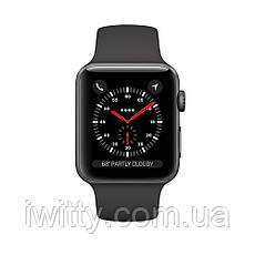 Watch Series 3 GPS + Cellular 42mm Space Black Stainless Steel with  Black Sport Band  (MQK92), фото 3