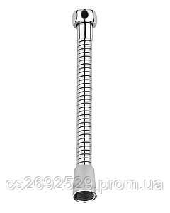 Шланг для душа  эластичный, растягивающийся с двойной оплеткой 1,5-1,8 м, блистер
