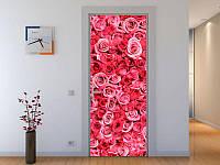 Наклейка на дверь Розы