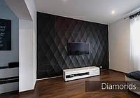 3-D панель из гипса Diamonds