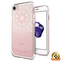 Чехол Spigen для iPhone 7 / 8 Liquid Crystal, Shine Pink, фото 1