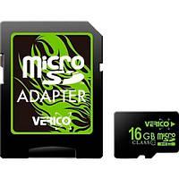 Карта памяти MicroSDHC 16Gb class 10 (SD adapter) Verico UHS-I (VFE3-16G-V1E)