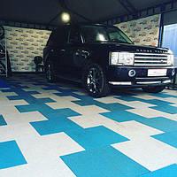 Резиновое напольное покрытие для гаража