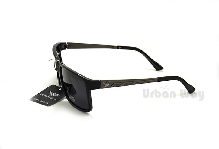 Мужские солнцезащитные очки Emporio Armani, классическая матовая оправа с  поляризацией - Интернет - магазин