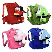 Мягкий рюкзак 555-51  Робокар Поли