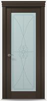 """Двери межкомнатные Папа карло """"Millenium ML-09""""  бевелс экошпон renolit  Дуб мокко"""