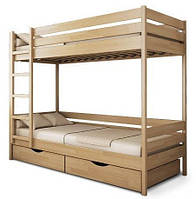 """Ліжко дитяче двоярусне """"Дует"""". Масив бука, фото 1"""