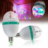 Вращающаяся диско лампа для вечеринок, светодиодная лампа, светомузыка, LED Mini Party Light Lamp, дискотека, фото 1