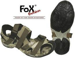 Трекинговые сандалии на фастексах р.42 (27см) пустынный камуфляж Fox Outdoor 18303Z