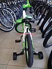 Детский велосипед Azimut Ksr 16 дюймов бело-салатовый, фото 7