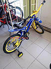 Детский велосипед Azimut Ksr 16 дюймов сине-желтый, фото 5