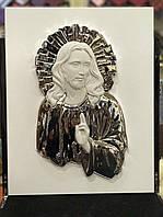 Икона с серебром Иисус Вседержитель