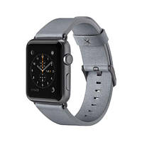 Ремень для Apple Watch 38мм Classic Leather Band Grey (F8W731btC02)