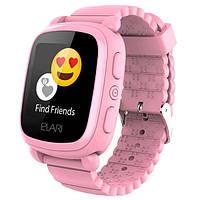 Смарт-годинник дитячий Elari KidPhone 2 з GPS-трекером Pink (KP-2P)