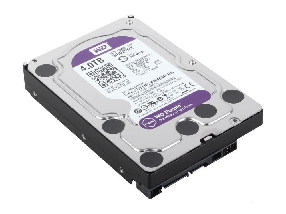 Жорсткий диск HDD 4000GB Western Digital WD40PURX  (SATA III, InteliPower, 64МВ)