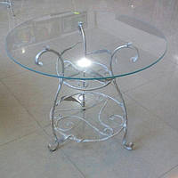 Журнальный столик художественная ковка белый, фото 1
