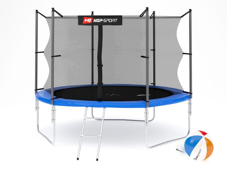 Батут Hop-Sport 10ft (305cm) blue с внутренней сеткой  для дома и спортзала, Львов