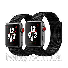 Watch Nike+ Series 3 GPS + Cellular 38mm Space Gray Aluminum with Black/Pure PlatinumSport Loop(MQL82), фото 2