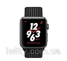 Watch Nike+ Series 3 GPS + Cellular 38mm Space Gray Aluminum with Black/Pure PlatinumSport Loop(MQL82), фото 3