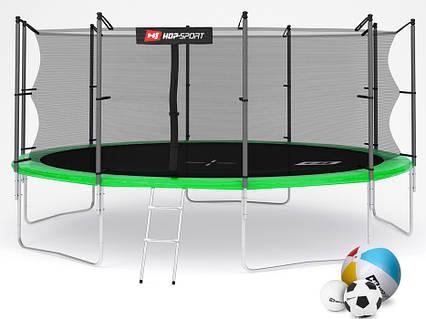 Батут Hop-Sport 16ft (488cm) green с внутренней сеткой  для дома и спортзала, Львов, фото 2