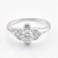 """Кольцо Xuping Jewelry """"Амур"""" размер 17, медицинское золото, родий. A/B 0485"""