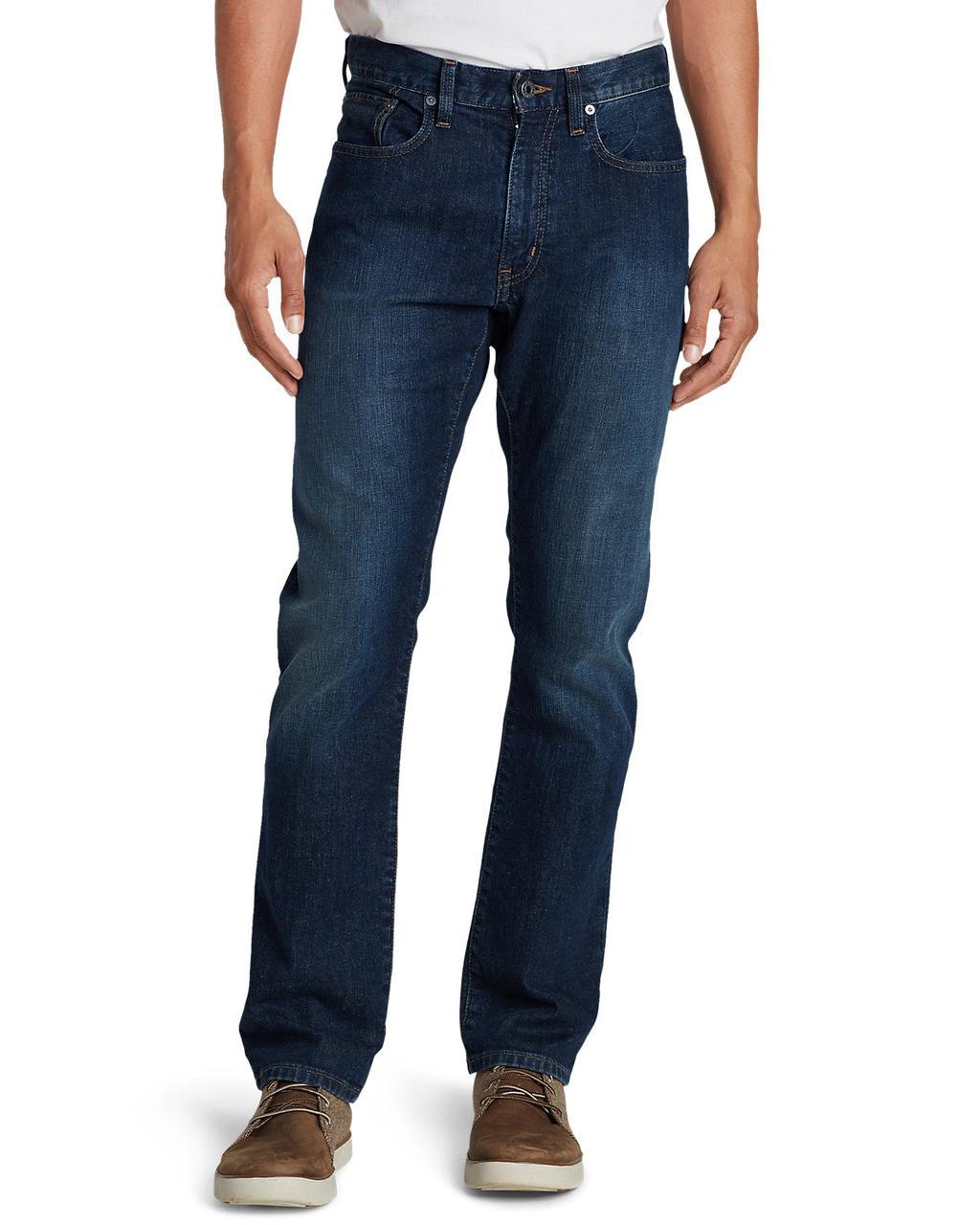 Модные Мужские Джинсы Eddie Bauer Mens Flex Jeans Slim Fit RIVER ROCK — в  Категории