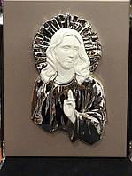 Икона с серебром Иисус Спаситель