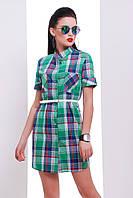 """Платье -рубашка с коротким рукавом """"Лайт-2"""" Green"""