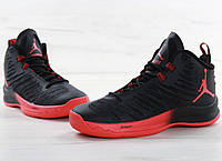 Кроссовки Nike Jordan Super Fly 5 black/red. Живое фото (аир джордан, эир джордан)